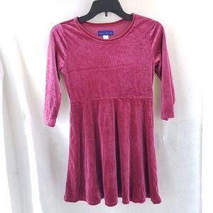 SIMPLY STYLED Girls Pink Velvet Dress Sz 14